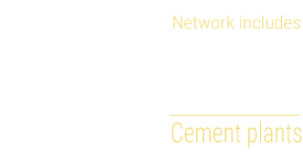 Network includes 11 cement plants